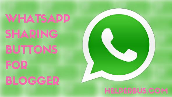 Blogger Blog Ke Liye Whatsapp Sharing Button