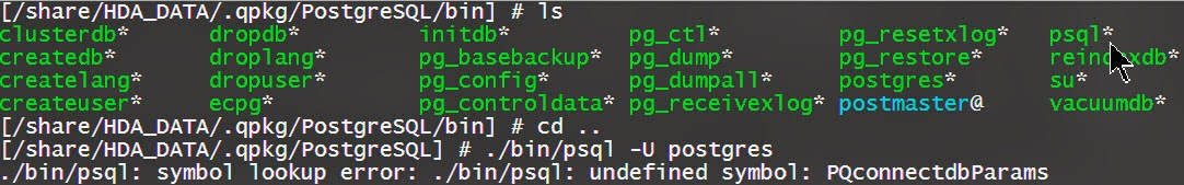iLearnBlogger: QNAP/Linux Tool - Setting PostgreSQL and PHP