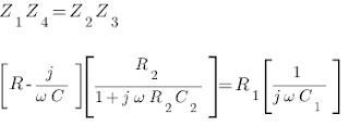Balanced Schering's Bridge Equations