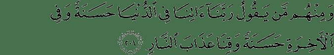 Surat Al-Baqarah Ayat 201