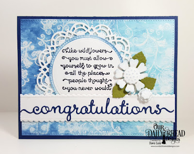 Our Daily Bread Designs Stamp Set: Seeds of Today, Our Daily Bread Designs Custom Dies: Congratulations, Bitty Borders, Circles, Pierced Circles, Pierced Rectangles, Pretty Posies, Doily