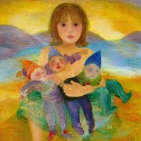 A menina e a boneca de Cândido Portinari