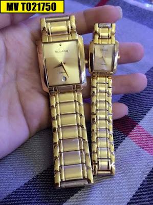 Đồng hồ đeo tay cặp đôi dây inox Movado MV T021750