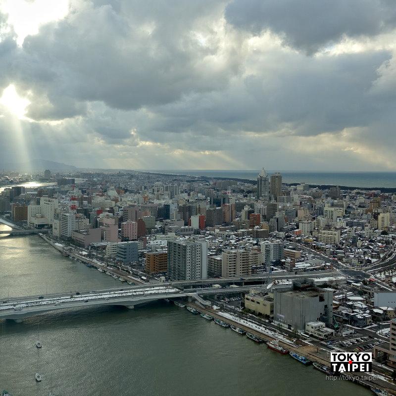 【朱鷺Messe展望室】日本海測最高 登上125公尺處看新潟市景