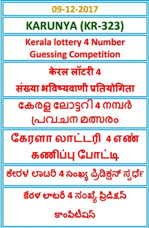 4 Number Guessing Competition KARUNYA KR-323