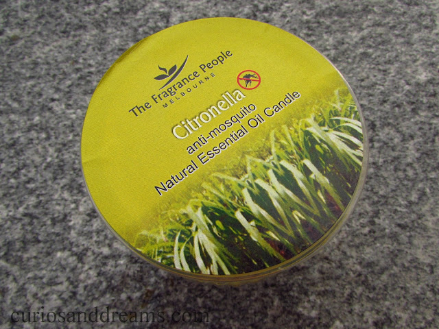 The Fragrance People Citronella Essentail Oil Candle review, The Fragrance People review, The Fragrance People candle review