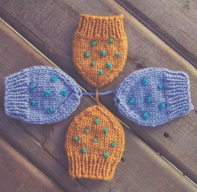 Mitaines de bébé tricotées - patron gratuit