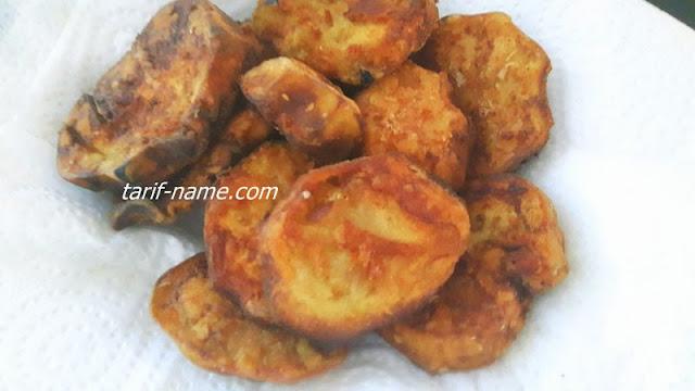 yağ çekmeyen patlıcan kızartması