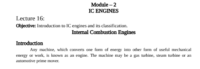Mechanical Engineering Module 2