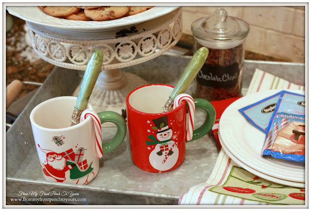 Vintage Farmhouse Christmas Kitchen-Vintage-Hot Cocoa Mugs-From My Front Porch To Yours