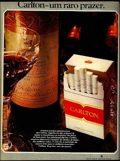 cigarros Carlton, 1973, propaganda anos 70; história decada de 70; reclame anos 70; propaganda cigarros anos 70. Brazil in the 70s; Oswaldo Hernandez;