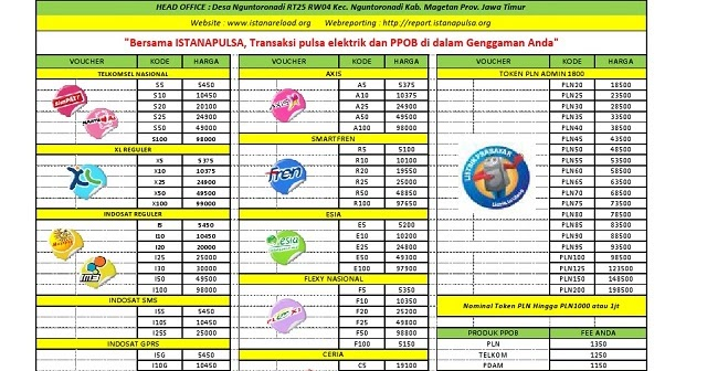Download Brosur Pulsa Elektrik Ppob Paling Murah