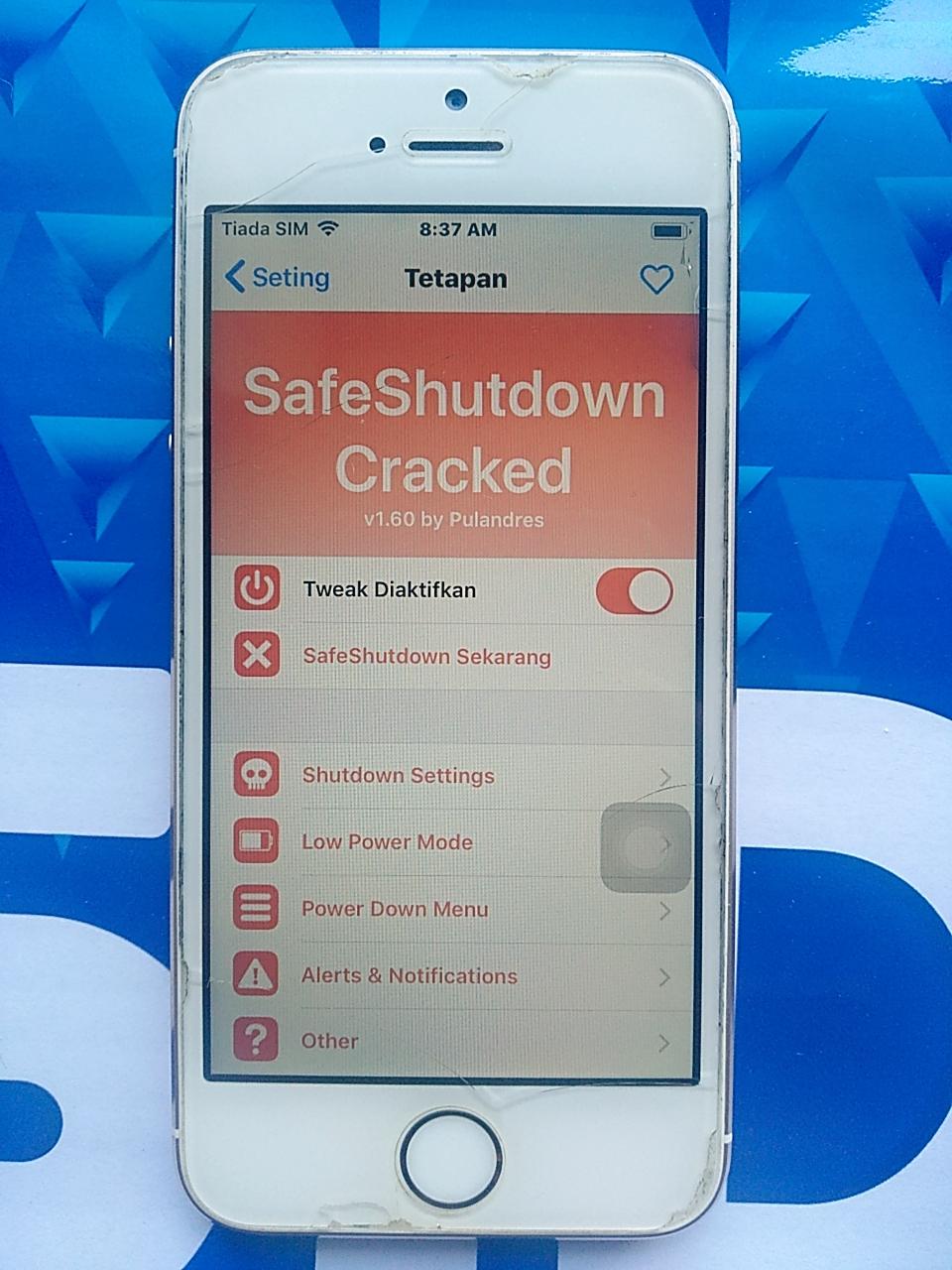 Cara Mengaktifkan SafeShutdown Iphone