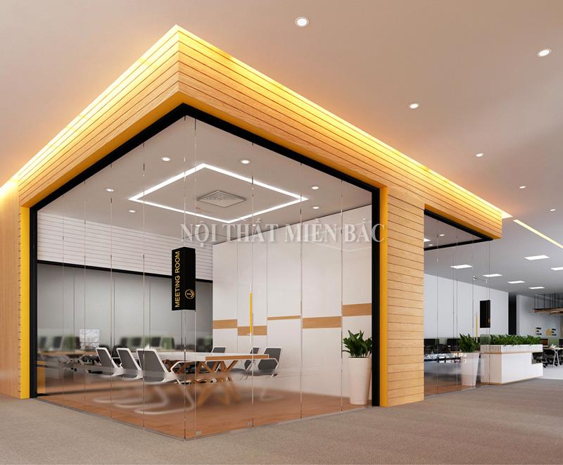 Thiết kế nội thất phòng làm việc sử dụng nội thất thông minh
