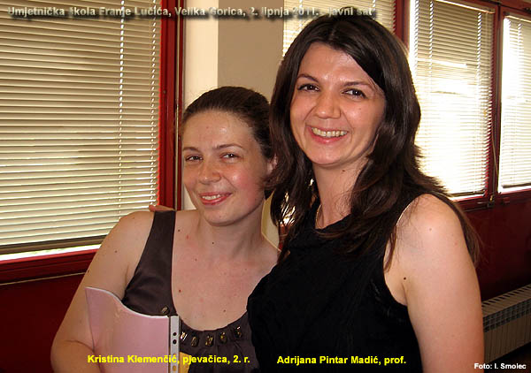 Kristina Klemenčić i prof. Adrijana Pintar Madić