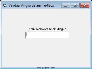 Cara Membuat Validasi Input Angka dalam TextBox di VB 6.0