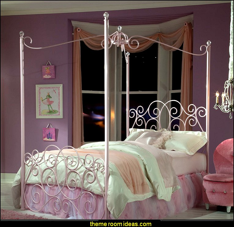 Princess style bedrooms - castle theme beds - Pumpkin Bed - fairy princess theme bedroom ideas & Decorating theme bedrooms - Maries Manor: pumpkin bed