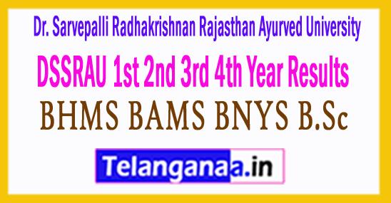 DSSRAU 1st 2nd 3rd 4th Year Results 2018 BHMS BAMS BNYS B.Sc