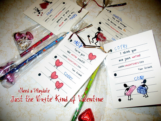 "Just the ""Write"" Kind of Valentines (free printables) (pre-Instagram)"
