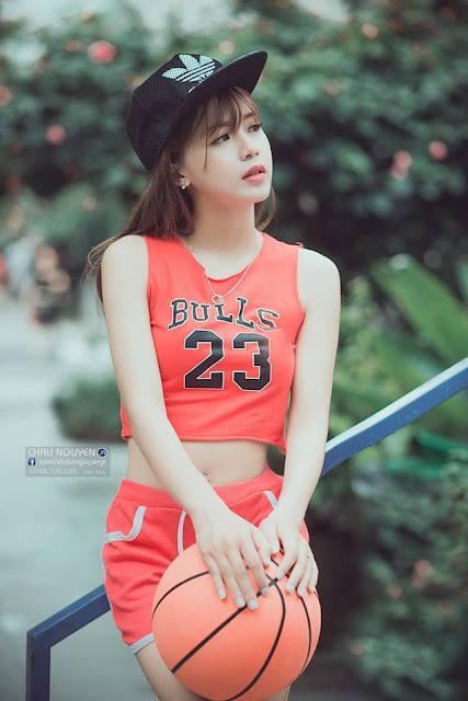 Hotgirl bóng rổ dưới góc nhìn của nhiếp ảnh gia
