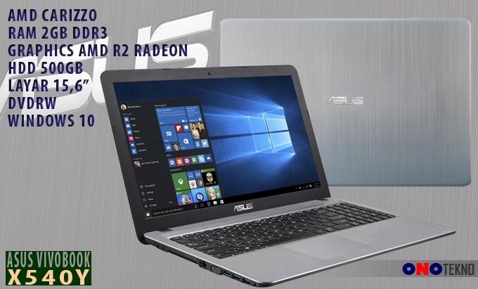 ASUS VivoBook X540Y Notebook berbasis AMD dengan harga terjangkau