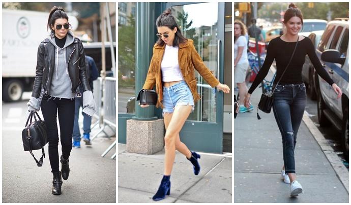 Kendall Jenner, estilo Kendall Jenner, Kendall Jenner tumblr, irmãs Kardashian, look básico, make simples