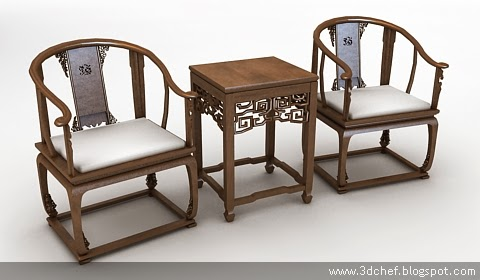free 3d model chinese chair