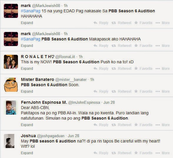 PBB Season 6 Audition