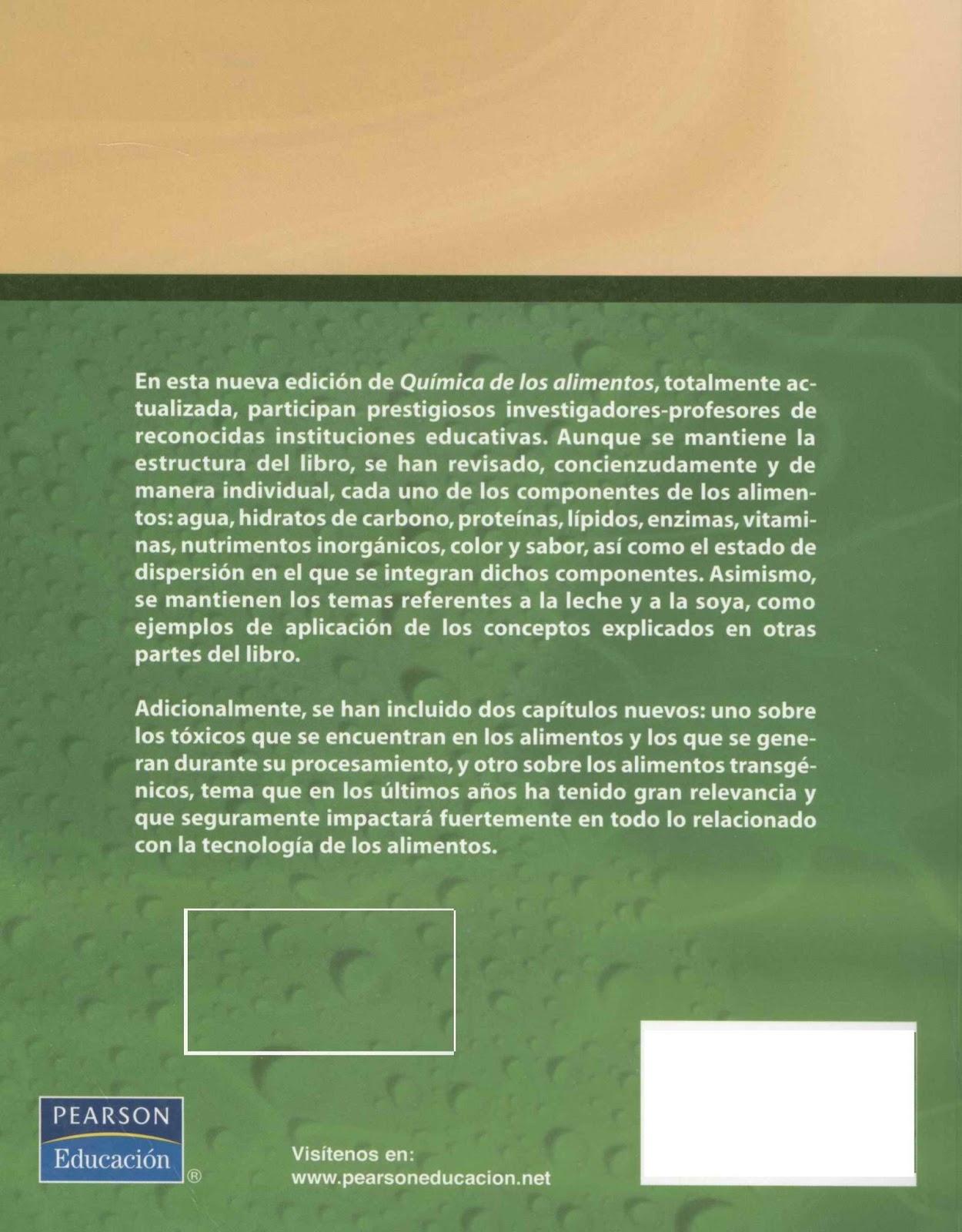Libros revistas intereses for Quimica de los alimentos pdf
