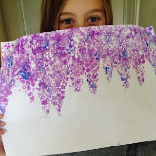 wisteria - bubblewrap art
