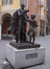A statue of the violin-maker Stradivari in Cremona