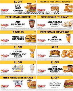 free Hardees coupons april 2017