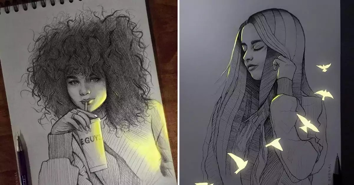 Stunning Pencil Sketches That 'Glow With Life'
