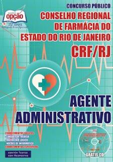 Apostila CRF-RJ Agente Administrativo PDF por Download.