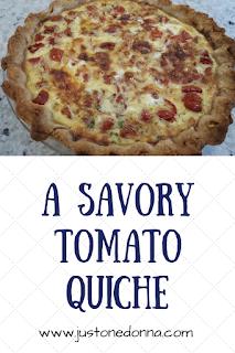 A Savory Tomato Quiche