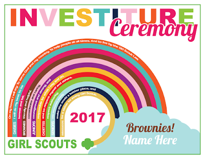 Girl Scout Custom Investiture Ceremony Certificate