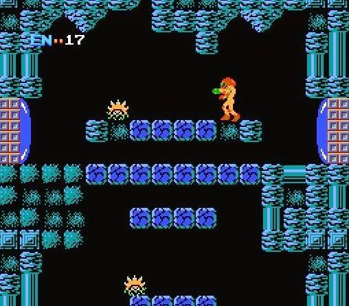 Imagen: Pantalla Metroid 1986 (NES)