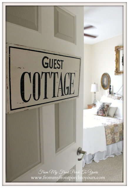 Christmas -Guest Bedroom-Simple Christmas-Guest Cottage Sign-From My Front Porch To Yours