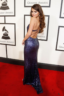 Selena Gomez Sequined Celebrity Red Carpet Prom Dress