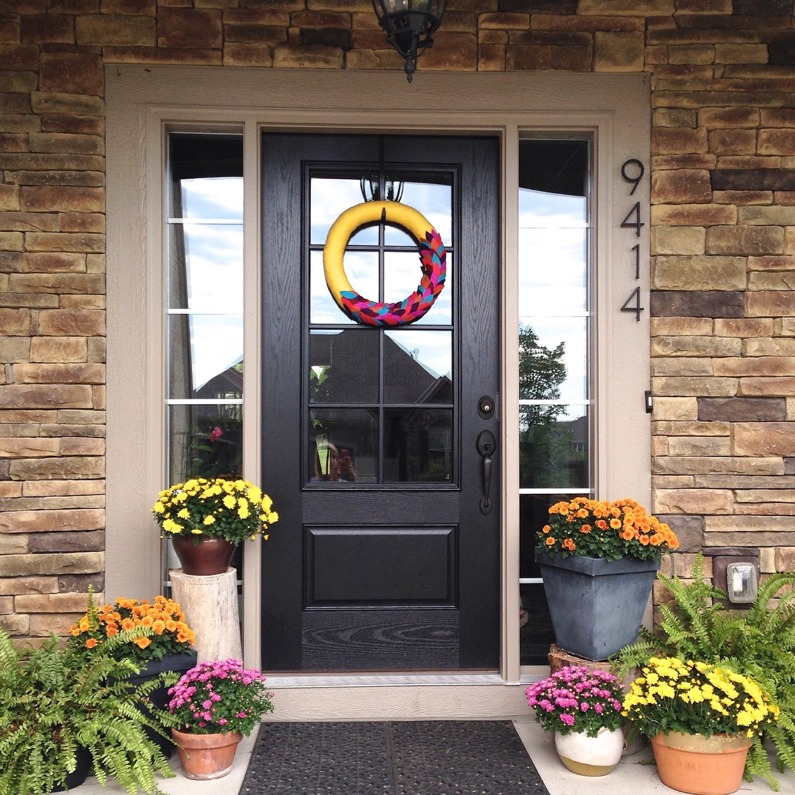 Life Love Larson: New Glass Panel Front Door