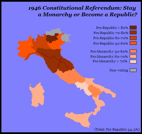 Opinions on Italian constitutional referendum, 1946