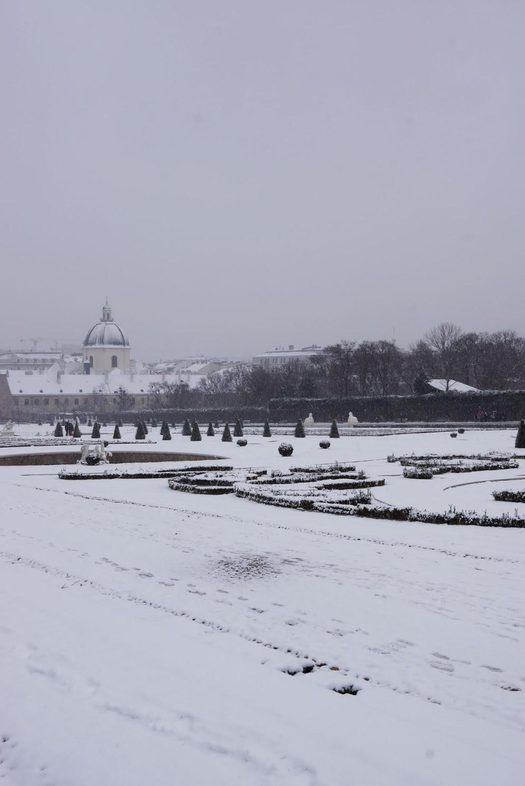 Belweder zimą