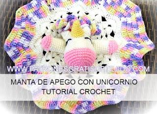 Cómo tejer manta de apego amigurumi unicornio