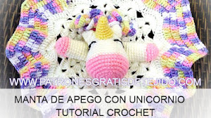 Mantita de Apego Unicornio / Tutorial Crochet