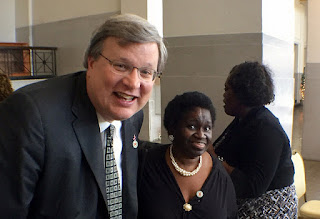 Savanah Morris with Mayor Strickland