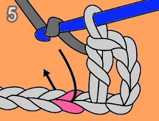 الدرس السادس ;طريقة عمل غرزة العمود بلفة واحدة- غرزة البريد double crochet - تعليم الكروشيه للمبتدئين