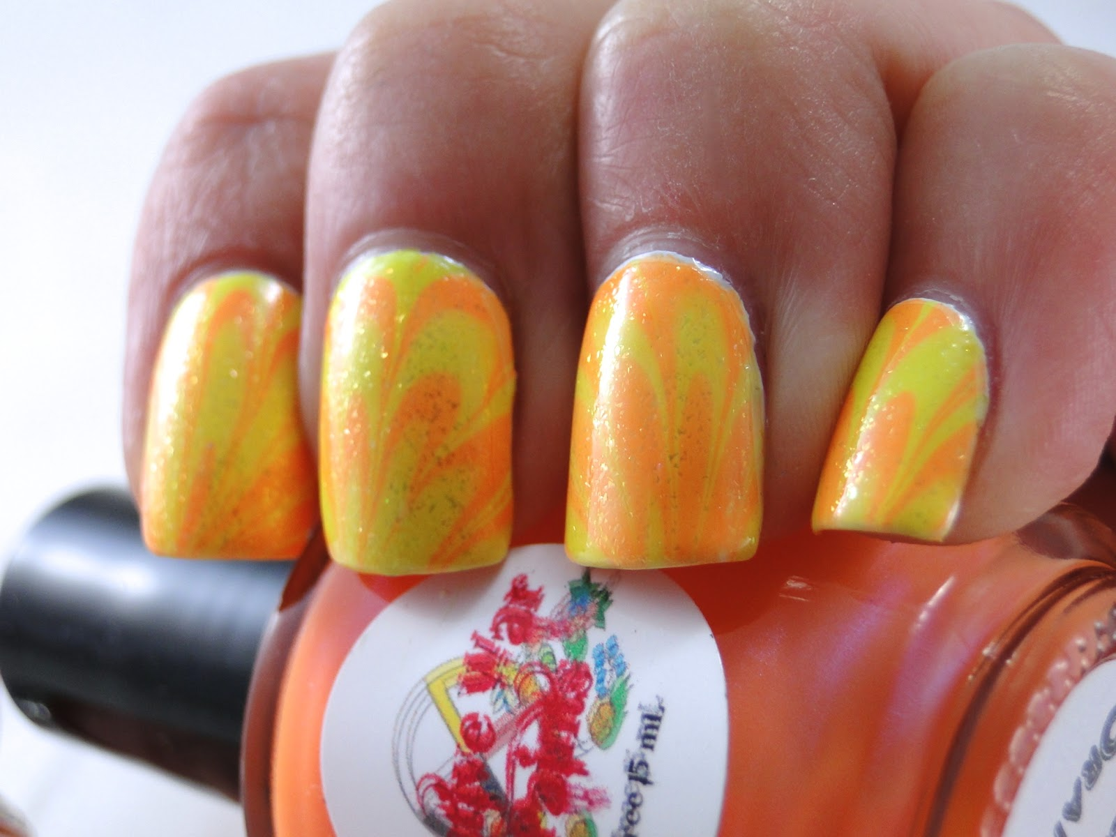 I Feel Polished!: Neon Water Marble
