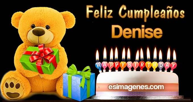Feliz cumpleaños Denise