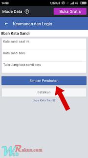 Cara merubah kata sandi facebook dengan cara cepat