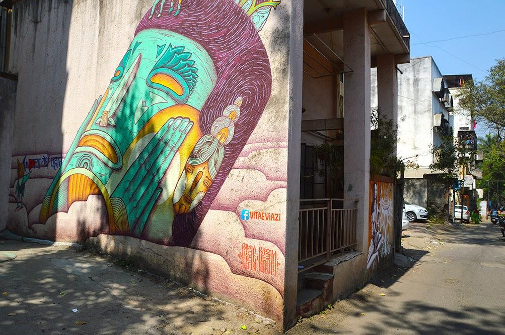 Pune Street Art Project Mural Kasba Peth Vitae Viazi